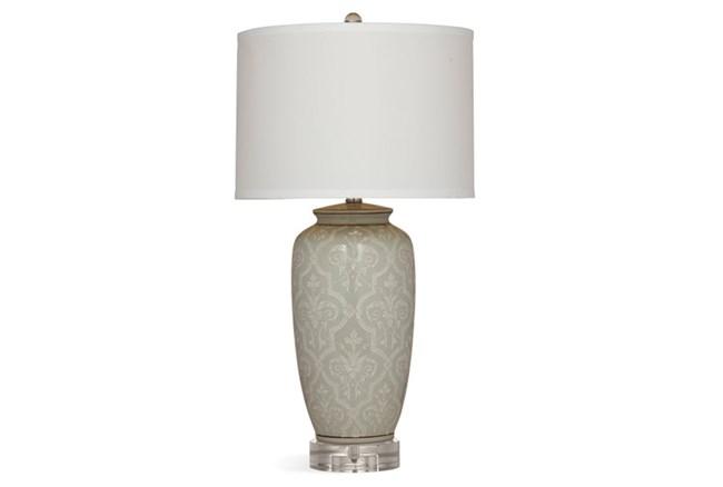 Table Lamp-Grey Damask - 360