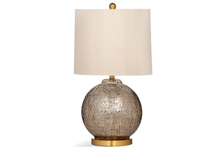 Table Lamp-Mercury Glass Sphere