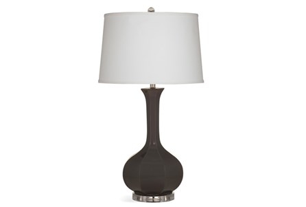 Table Lamp-Charcoal Fluted Bulb