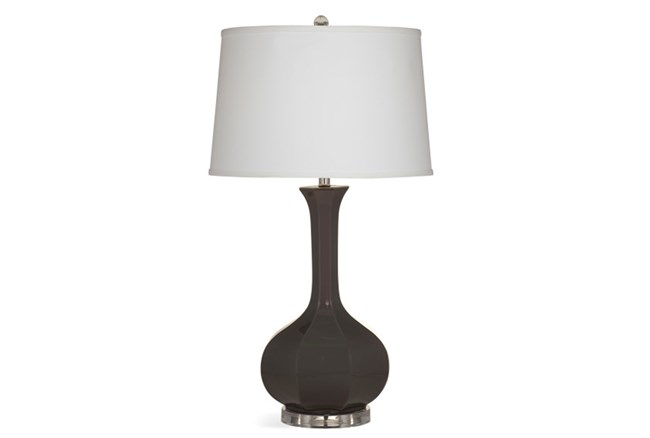 Table Lamp-Charcoal Fluted Bulb - 360