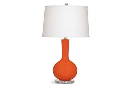 Table Lamp-Orange Bulb