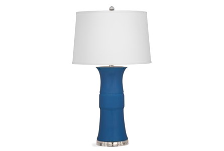 Table Lamp-Cobalt Banded