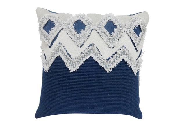 Accent Pillow-Diamond Zig Zag Grey 18X18 - 360
