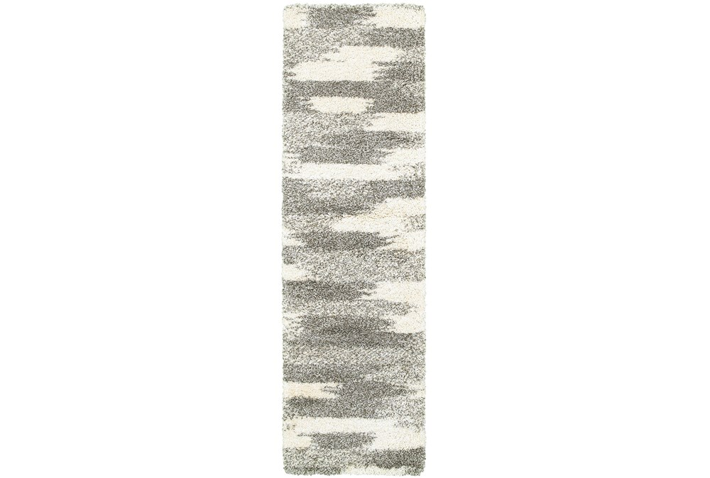 "2'3""x7'5"" Rug-Beverly Shag Grey Tones"
