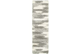 27X90 Rug-Beverly Shag Grey Tones