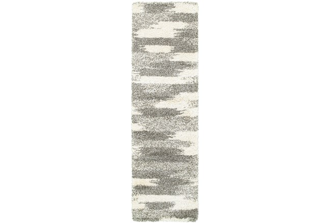 27X90 Rug-Beverly Shag Grey Tones - 360