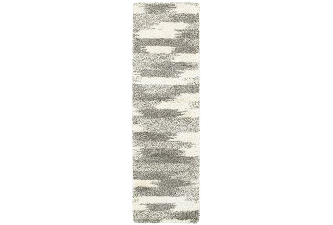"2'3""x7'5"" Rug-Beverly Shag Grey Tones - 360"