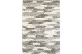 "3'8""x5'4"" Rug-Beverly Shag Grey Tones"