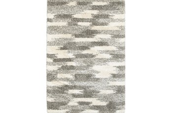 "9'8""x12'8"" Rug-Beverly Shag Grey Tones"