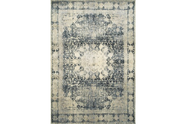 94X130 Rug-Merick Washed Denim - 360