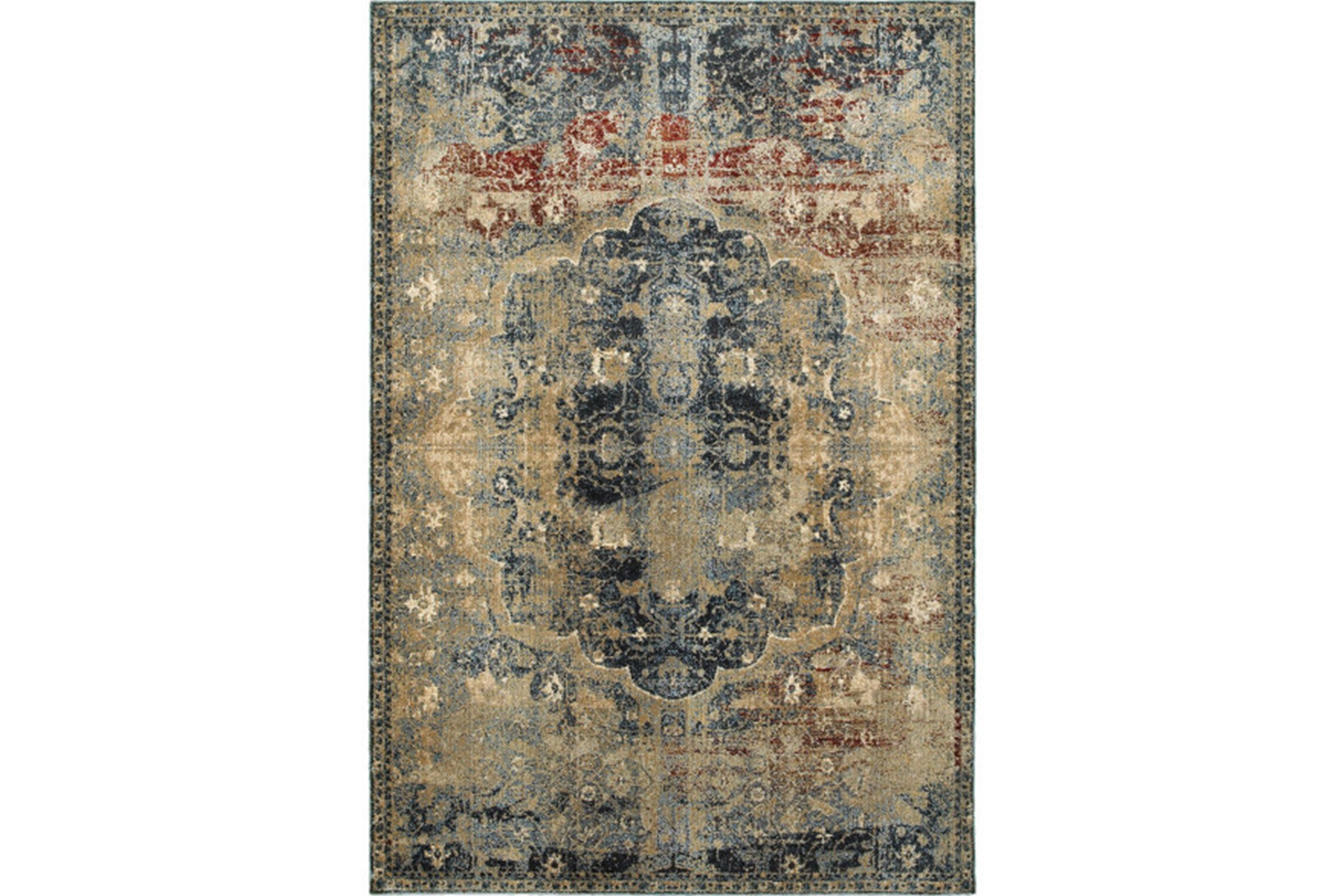 94x130 rug merick washed spice
