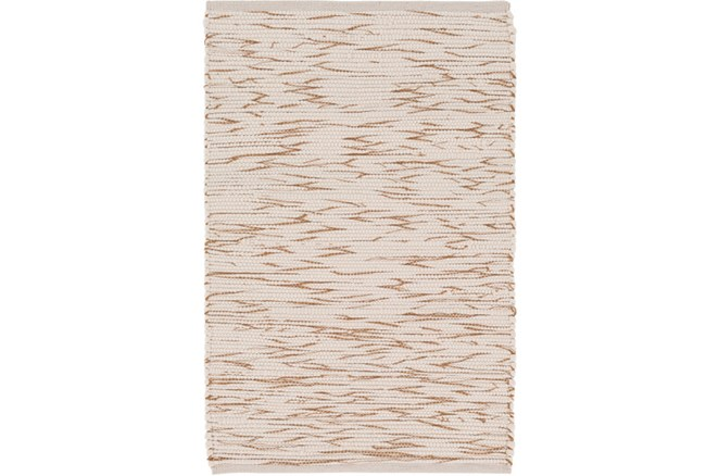 24X36 Rug-Cotton Striations Camel - 360