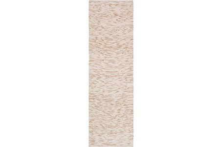 30X96 Rug-Cotton Striations Camel