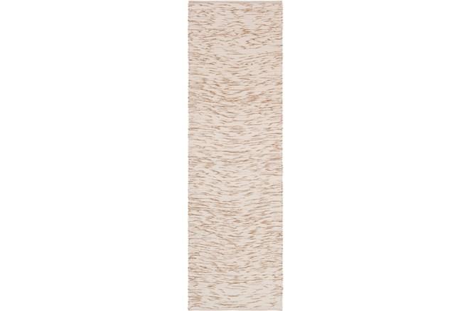 30X96 Rug-Cotton Striations Camel - 360