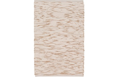 48X72 Rug-Cotton Striations Camel - Main