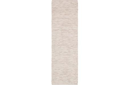 30X96 Rug-Cotton Striations Grey