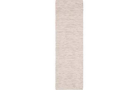 30X96 Rug-Cotton Striations Grey