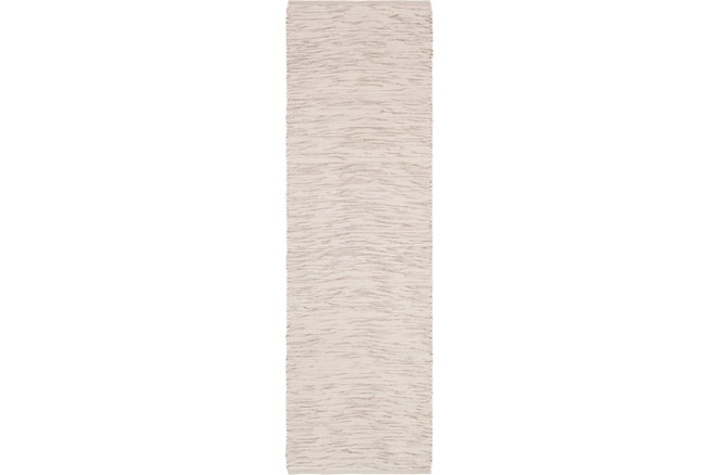 30X96 Rug-Cotton Striations Grey - 360