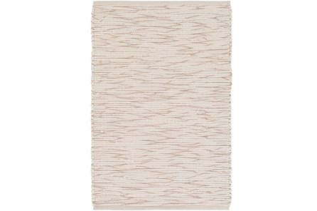 48X72 Rug-Cotton Striations Grey - Main