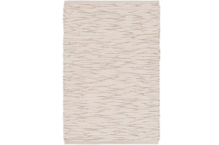 96X120 Rug-Cotton Striations Grey