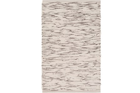 48X72 Rug-Cotton Striations Brown - Main