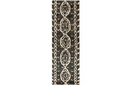 "2'5""x8' Rug-Natuk Dark Brown"