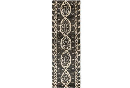 30X96 Rug-Natuk Dark Brown