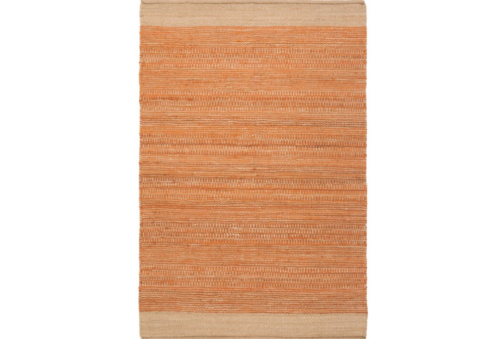 48X72 Rug-Santorini Jute Orange