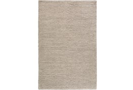 24X36 Rug-Felted Wool Stripe Grey