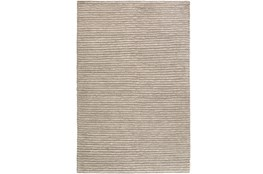 48X72 Rug-Felted Wool Stripe Grey