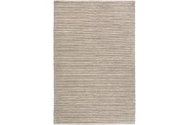 """5'x7'5"""" Rug-Felted Wool Stripe Grey"""