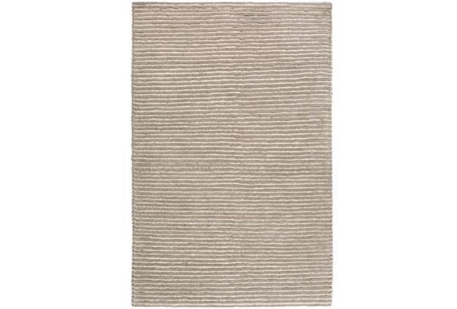 60X90 Rug-Felted Wool Stripe Grey - 360