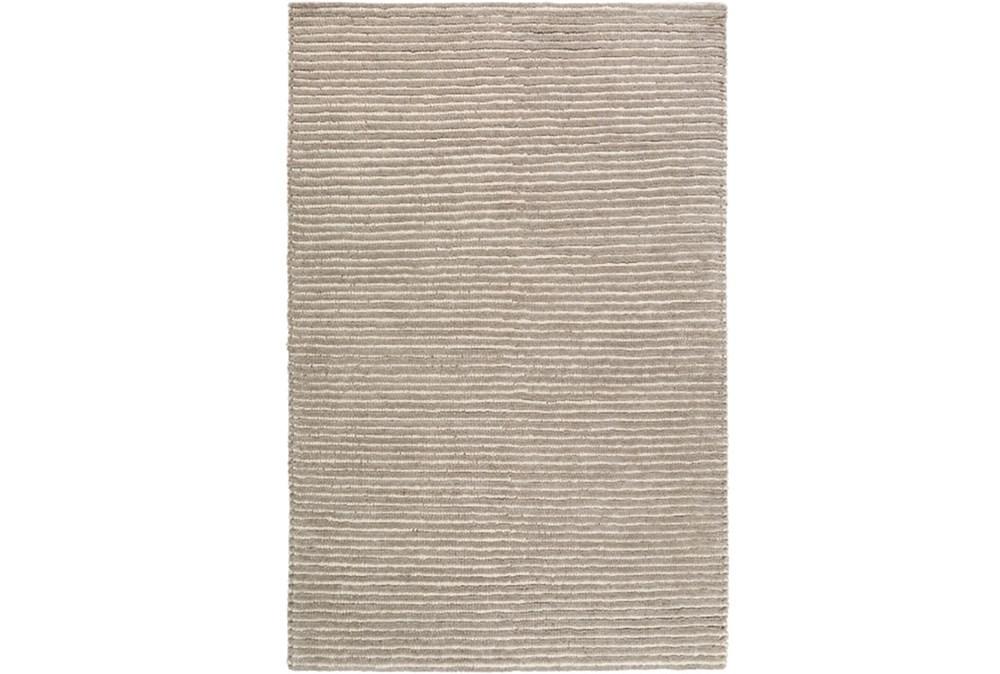 72X108 Rug-Felted Wool Stripe Grey