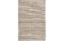 6'x9' Rug-Felted Wool Stripe Grey