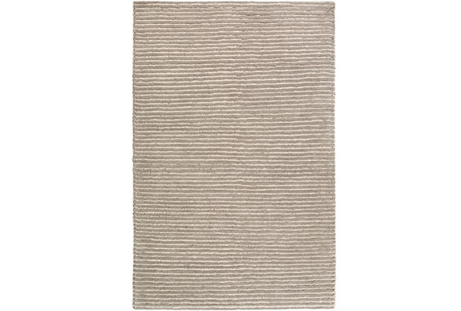 72X108 Rug-Felted Wool Stripe Grey - 360