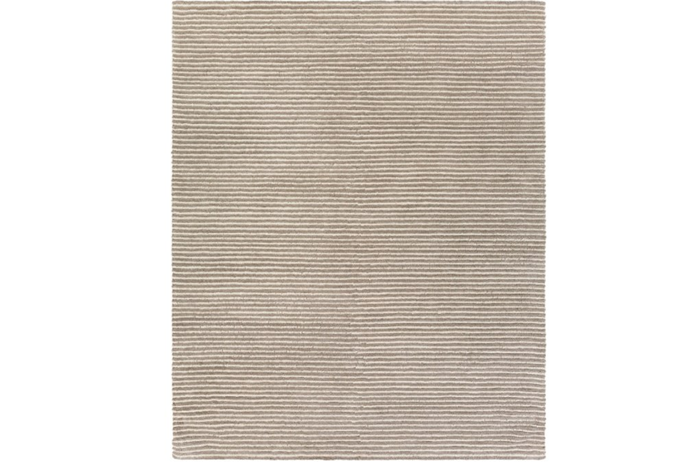 96X120 Rug-Felted Wool Stripe Grey