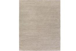 8'x10' Rug-Felted Wool Stripe Grey