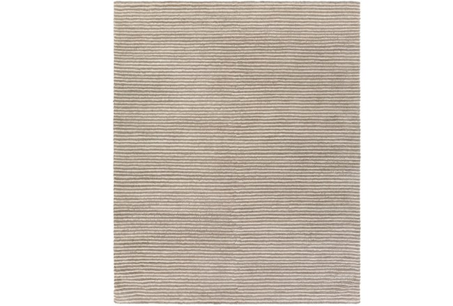 96X120 Rug-Felted Wool Stripe Grey - 360