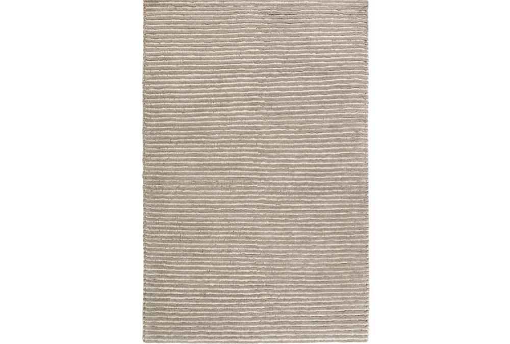 9'x13' Rug-Felted Wool Stripe Grey