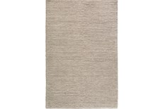108X156 Rug-Felted Wool Stripe Grey