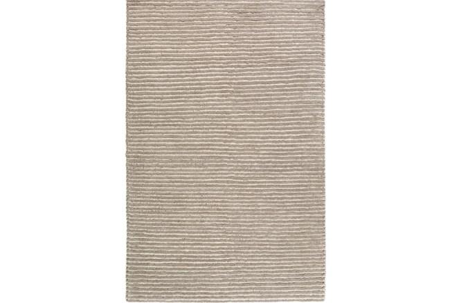 9'x13' Rug-Felted Wool Stripe Grey - 360