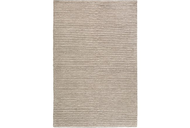 108X156 Rug-Felted Wool Stripe Grey - 360