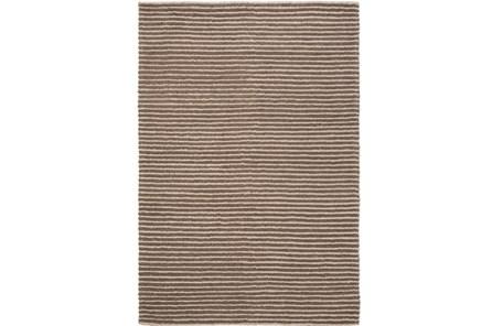 24X36 Rug-Felted Wool Stripe Brown - Main