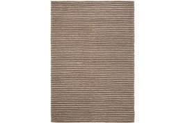 48X72 Rug-Felted Wool Stripe Brown