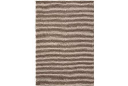 48X72 Rug-Felted Wool Stripe Brown
