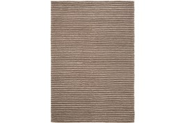 96X120 Rug-Felted Wool Stripe Brown