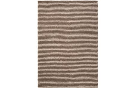 96X120 Rug-Felted Wool Stripe Brown - Main
