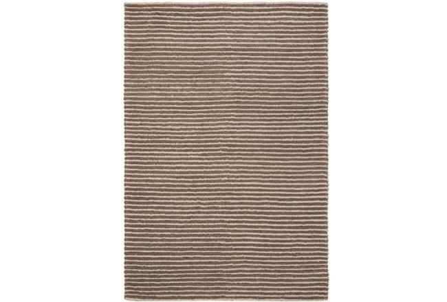 108X156 Rug-Felted Wool Stripe Brown - 360