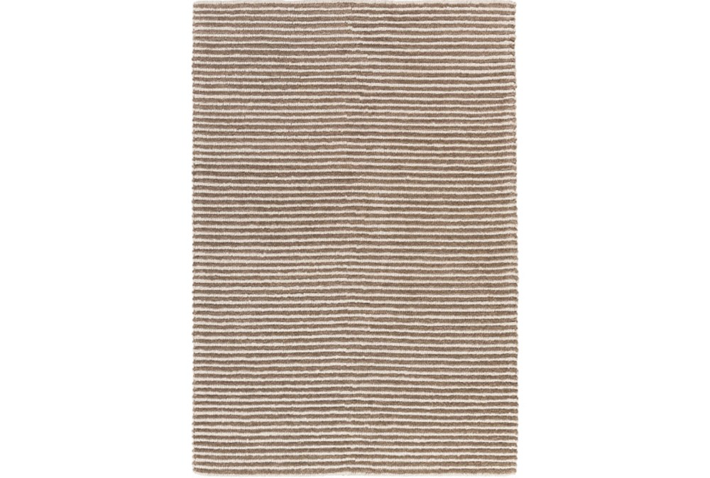 24X36 Rug-Felted Wool Stripe Tan