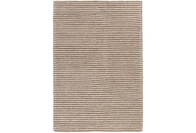 24X36 Rug-Felted Wool Stripe Tan - 360